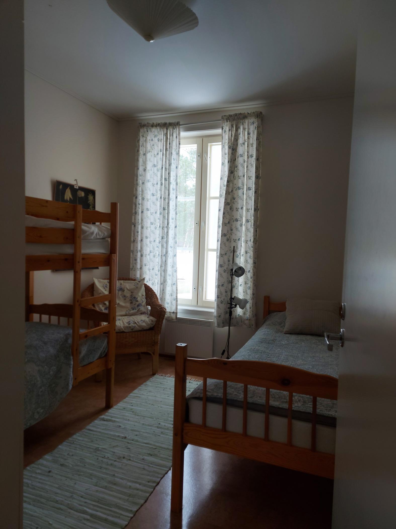 sovrum i 3-rumslägenhet på Pellas Lappo