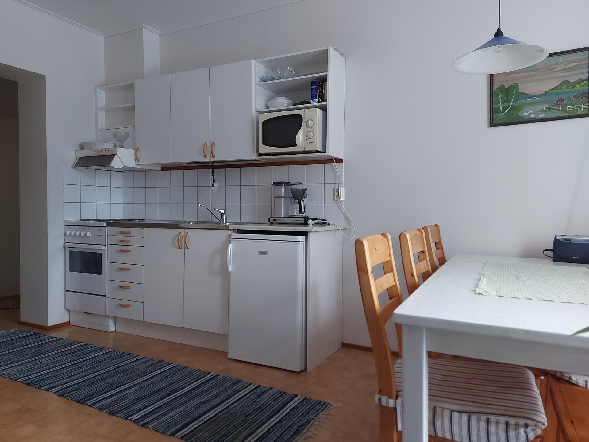 kök i 3-rumslägenhet på Pellas Lappo
